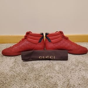 Gucci red signature leather shoes
